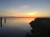 Blick vom Hafen/Anleger Schaprode zur Insel Hiddensee Vitte