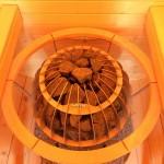 Runder einzigartiger Saunaofen