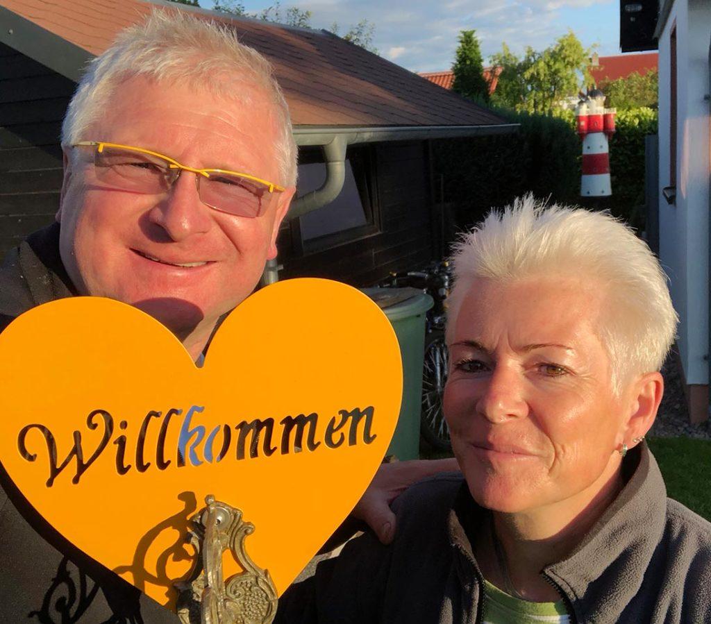 Stefan und Ramona Schumann begrüßen alle Gäste persönlich